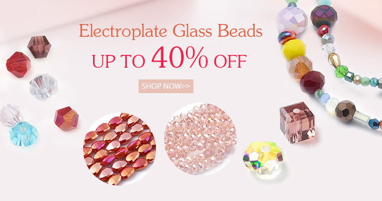 Electroplate Glass Beads  Up to 40% OFF