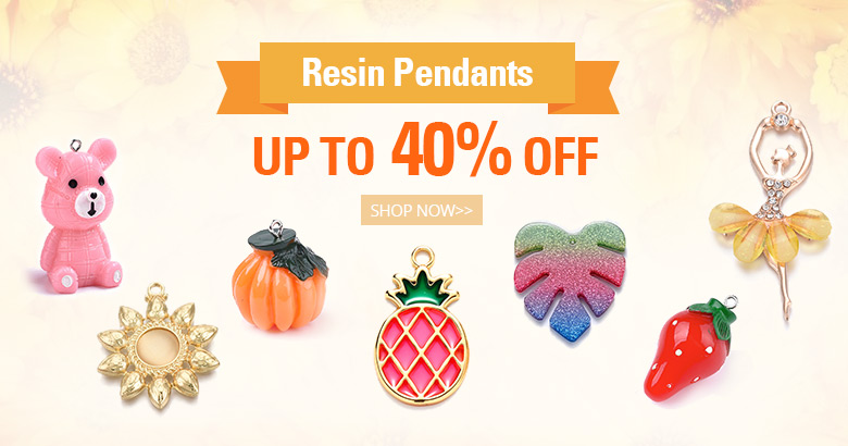 Resin Pendants Up to 40% OFF