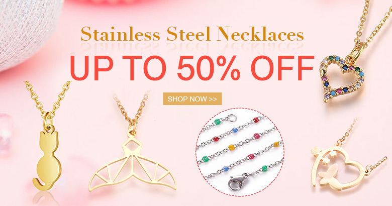 Stainless Steel Necklaces Up to 50% OFF