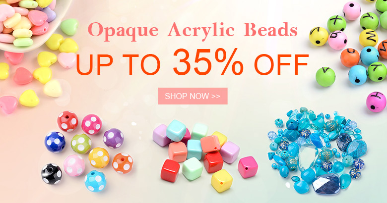 Opaque Acrylic Beads Up to 35% OFF
