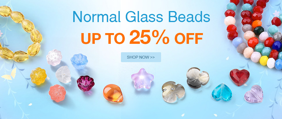 Normal Glass Beads Up to 25% OFF