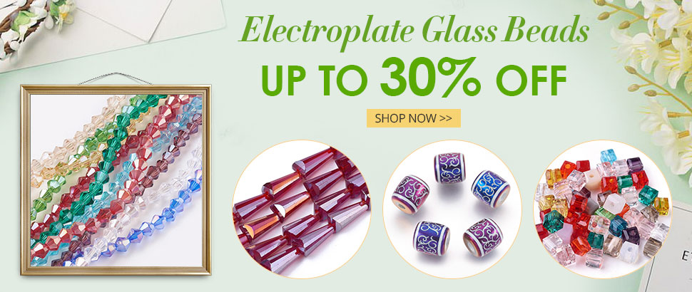 Electroplate Glass Beads  Up to 30% OFF