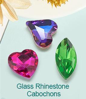 Glass Rhinestone Cabochons