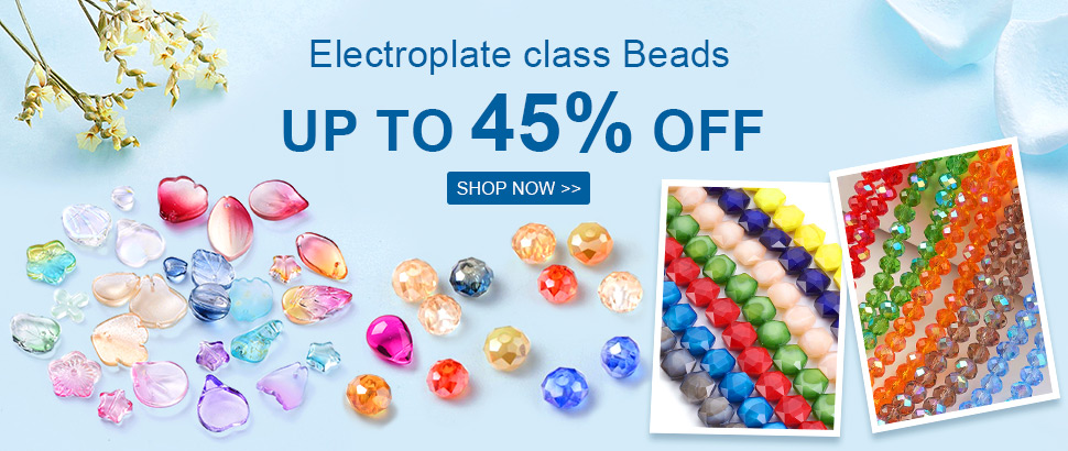 Electroplate class Beads Up to 45% OFF