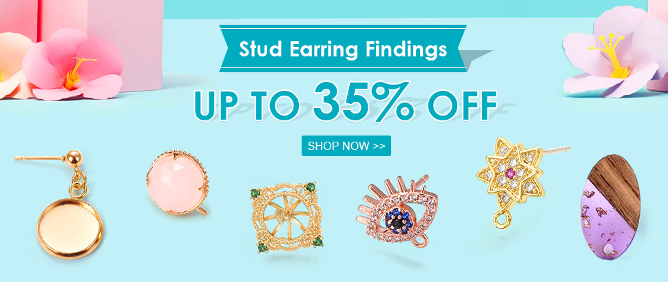 Stud Earring Findings  Up to 35% OFF