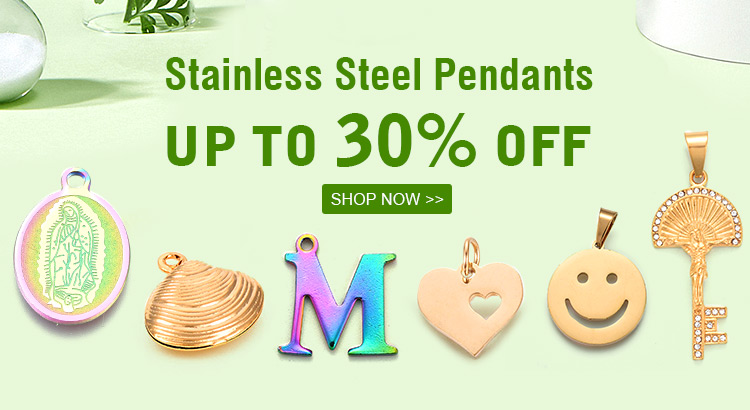 Stainless Steel Pendants  Up to 30% OFF