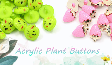 Acrylic Plant Buttons