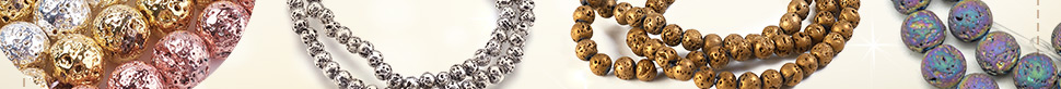 Electroplate Lava Beads