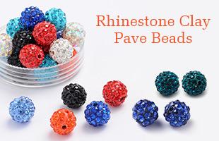 Rhinestone Clay Pave Beads