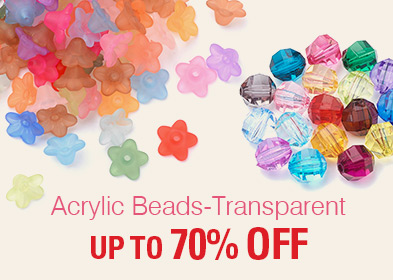 Acrylic Beads-Transparent UP TO70% OFF
