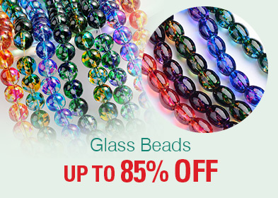 Glass Beads UP TO 85% OFF