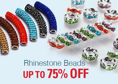 Rhinestone Beads UP TO 75% OFF