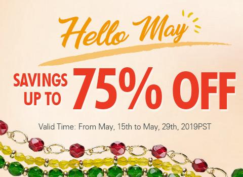 Hello May Savings Up To 75% OFF