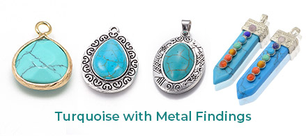 Turquoise with Metal Findings