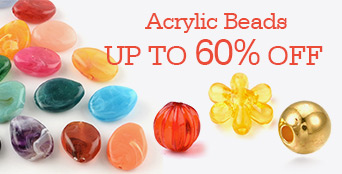 Acrylic Beads Up to 60% OFF