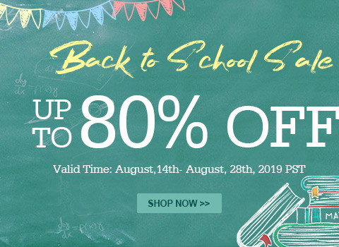 BacK to School Sale Up to 80% OFF
