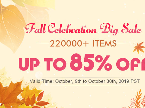 Fall Celebration Big Sale 220000+ Items Up to 85% OFF