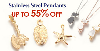 Stainless Steel Pendants Up to 55% OFF