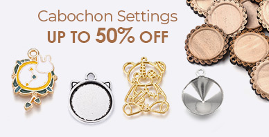 Cabochon Settings Up to 50% OFF