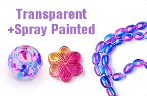 Transparent + Spray Painted
