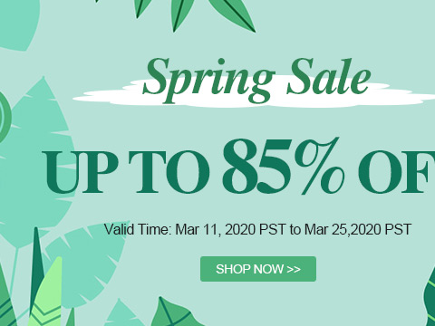 Spring Sale Up To 85% OFF