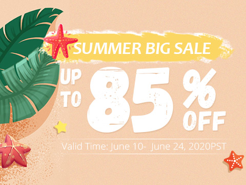 Summer Big Sale Up to 85% OFF