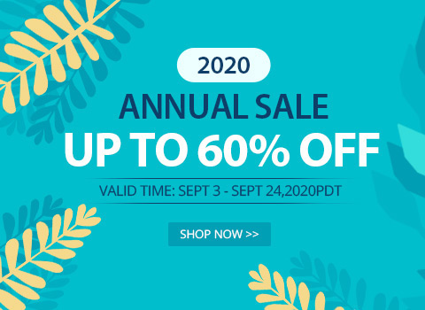 2020 Annual Sale Up to 60% OFF