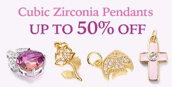 Cubic Zirconia Pendants Up to 50% OFF