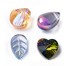 Electroplate Glass Pendants