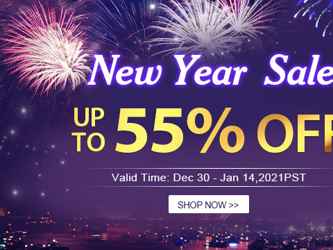 New Year  Sale Up to 55% OFF