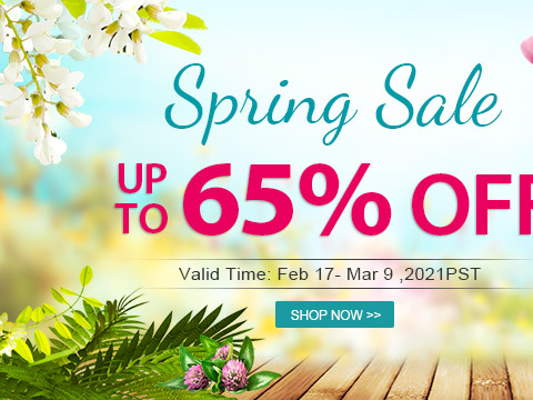 Spring Sale Up to 65% OFF