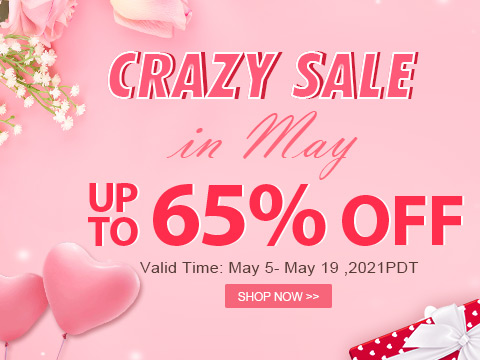 Crazy Sale In May Up To 65% OFF