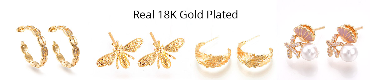 Real 18K Gold Plated